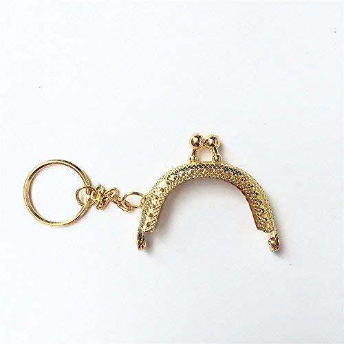 Guo Fa 5cm Vintage Clutch Coins Purse Metal Arc Frame Kiss Clasp Key Ring Handbag Handle Frame 10Pcs