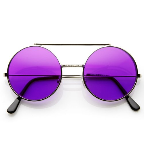 04f014b573d Limited Edition Color Flip-Up Lens Round Circle Django Sunglasses (Purple)  - Buy Online in UAE.