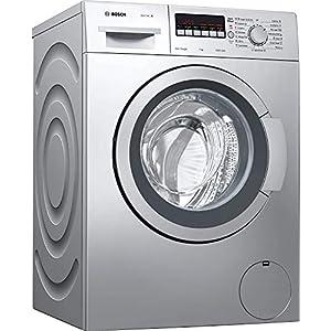 Bosch 7 kg Fully-Automatic Front Loading Washing Machine (WAJ2446SIN, Silver, Inbuilt Heater)