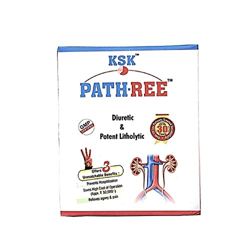 Price comparison product image PATH-REE Herbal Kit (200ml Syrup+30g Powder+60 Tablets) - Natural Treatment for Kidney Stones - Diuretic & Potent Litholytic -