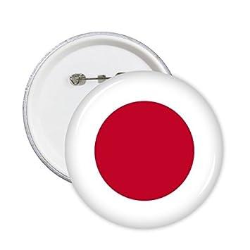 Japón bandera nacional Asia país símbolo patrón redondo Pin Botón 5pcs: Amazon.es: Oficina y papelería