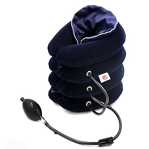 ChiFit Cervical Neck Traction Device, Neck Posture, 4 Layer Neck Stretcher for Pain Relieving Remedy Chronic Neck & Shoulder Alignment Pain,with Soft Washable Flannel Cover, New