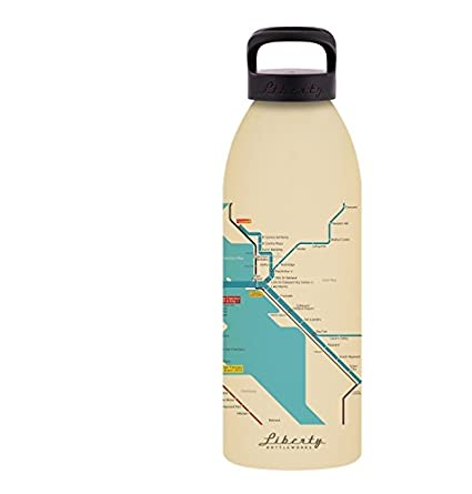 Liberty Bottleworks San Francisco Mass Transit Aluminum Water Bottle Made in USA