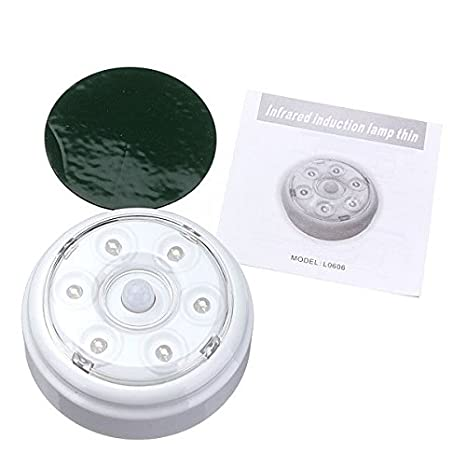 Portable 6 LED infrarrojo inalámbrico Sensor de movimiento PIR Luz de noche