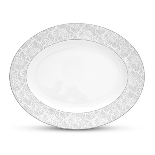 Wedgwood Vera Chantilly Lace Gray Oval Platter, ()