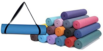 """Da Vinci Yoga Mat with Carry Strap, 1/4"""" Inch Super Thick, Extra Long 72"""", High Density, SGS Tested Phthalates Free Exercise Mats by Da Vinci Imports"""