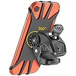 41Hhd3H6%2BWL. SS150 Cocoda Supporto Bici Smartphone, Porta Cellulare Bici, Ruotabile a 360° Regolabile Silicone Supporto Manubrio Moto MTB…