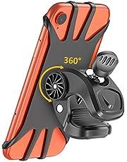 Bovon Support Téléphone Vélo, Support Téléphone Moto, Rotatif à 360° Réglable Silicone Moto Bicyclette Support Vélo du Guidon pour Tous Les 4.7''-6.5'' Smartphone