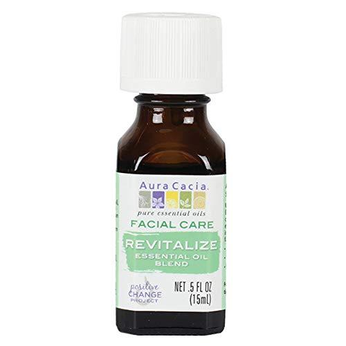 Aura Cacia Revitalize Facial Care Essential Oil Blend   0.5 fl. oz.