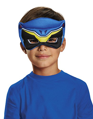 [Disguise Blue Ranger Dino Charge Puffy Mask Costume] (Power Rangers Masks)