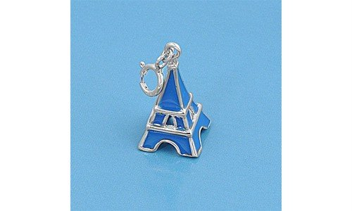 Sterling Silver Eiffel Tower Bracelet Pendant Paris Love Charm Pure 925 New 14mm (Pendant ONLY)