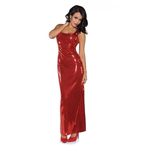 Underwraps Women's Sequin Dress Long, Red, (Xs Halloween Dress Code)