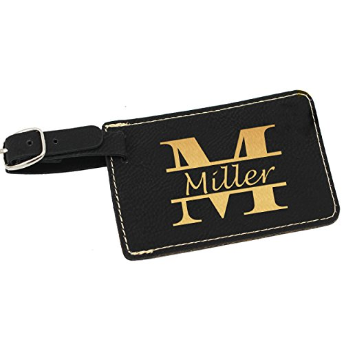 Personalized Luggage Tags - Engraved Monogrammed Custom Business Travel Accessories Gift