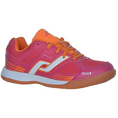 Pro Touch Ind-Schuh Courtplayer Jr. Chaussures de sport pour enfant Bleu/vert/bleu marine, Rouge/orange, 32