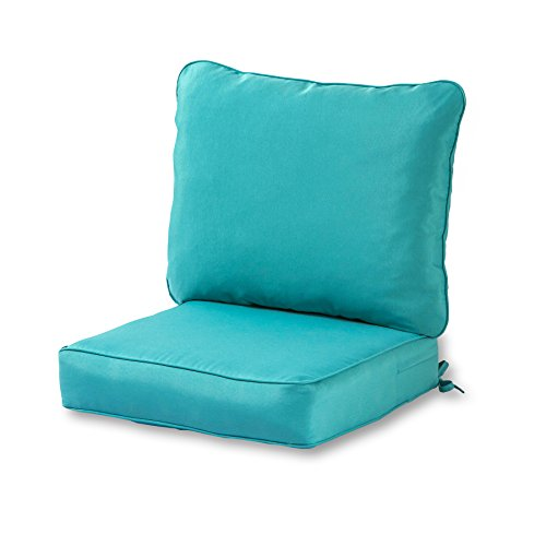 Cushion Only Set - Greendale Home Fashions Deep Seat Cushion Set, Teal