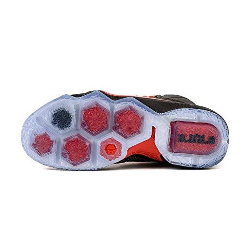 Nike James Black 684593 Hommes bright 12 White Xii Baskets Lebron Crimson Montantes OOqpwTC