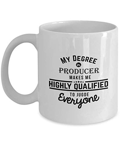 Producer Coffee Mug - Tea Cup For Musical Film Theater - Gift for Orchestra Piano Guitar Actress Actor Script Writer Teacher - Valentine Appreciation