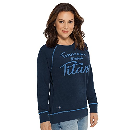 NFL Chicago Bears Women's Duout Reversible Pullover Sweatshirt, Medium, Navy (Milano Fans)