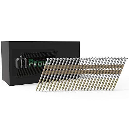 MProve Full Round Head 21 Degree 2-3/8-Inch x .113 Plastic Collated Bright Round Shank Framing Nail [500 per Box]