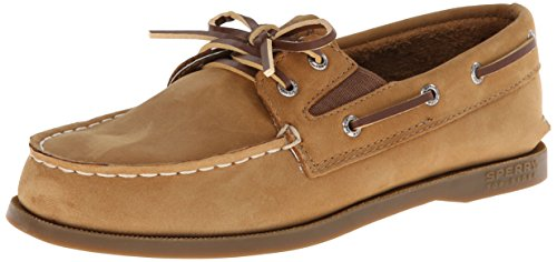 Sperry Authentic Original Slip On Boat Shoe (Toddler/Little Kid/Big Kid),Sahara,6 M US Big Kid (Sperry Top Sider Boys Billfish Boat Shoes)