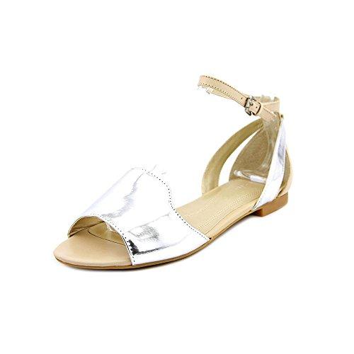 (Tahari Women's Francie Silver/Sand Sandal 6 M)