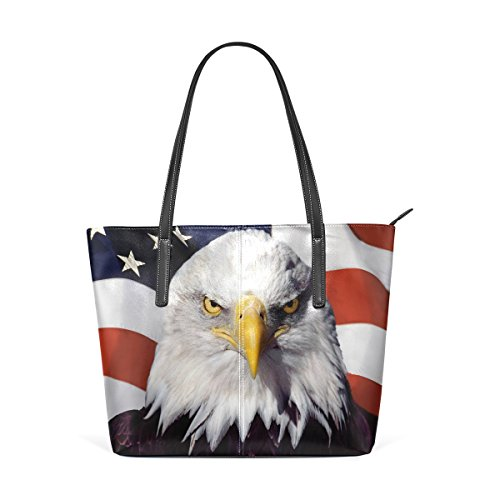 Shoulder Eagle Leather Handle Bags Flag Top American Purses Women's Fashion Handbag PU Totes TIZORAX and FWgwRfqP