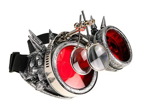 4 Lupas Vendido Steampunk Cibern Gafas Antiguas qUzqrwC