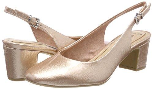 29600 De Mujer Tozzi Para Marco Abierto Zapatos Talón Met rose Pat Rosa tq5UAw