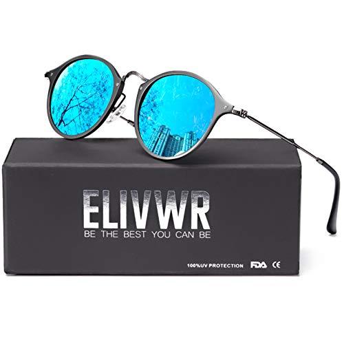 ELIVWR Katzenaugen Schwarz Sonnenbrille Polarisierte für Damen 100% Schutz vor Schädlichen UVA/UVB Strahlen