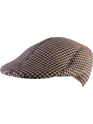 Adult's Mens Houndstooth Checkered Roaring 20s Detective Hat Costume -