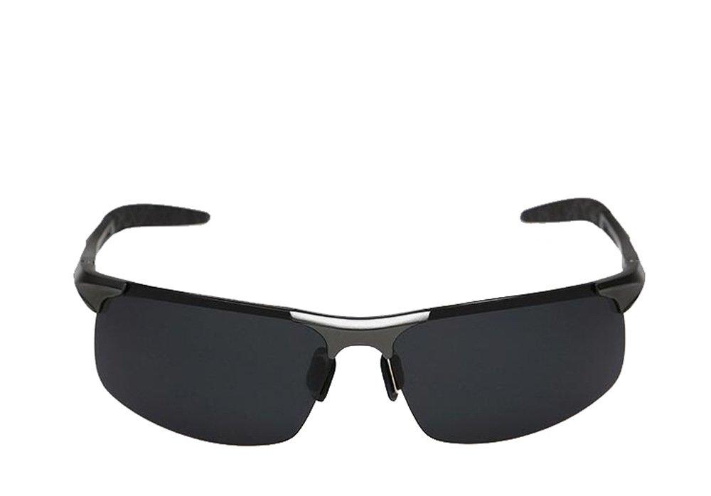 Minla Herren UV400 Schutz Polarisierte Sonnenbrille Schwarz Objektiv Sonnenbrille Aluminium Sport Reitbrille,Sch¨¹tze