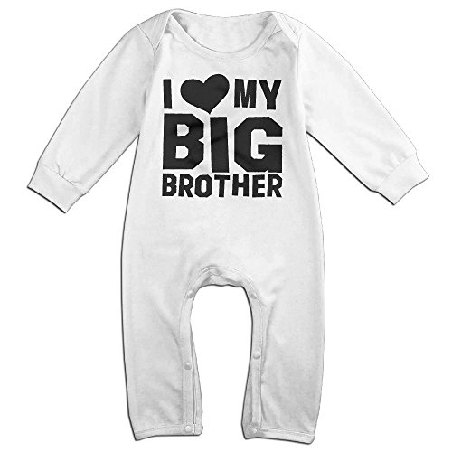 Pregnant Dead Baby Costume (Infant Baby's I Love My Big Brother Long Sleeve Climb Jumpsuit 18 Months White)
