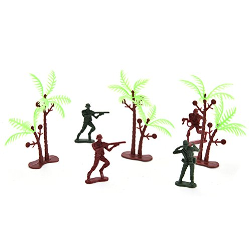 Ensunpal 307 Pcs/Set Army Soldier Toy Kits, World War II Soldiers Toy Set with Hand Bag Plastic Solider Figures Grenade Tank Aircraft Rocket Army Men Sand Scene Model by Ensunpal (Image #4)
