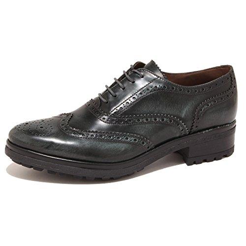 3 Woman 8495p Shoe All'inglese Verde Bico Donna Sax Scarpa PIq78qf
