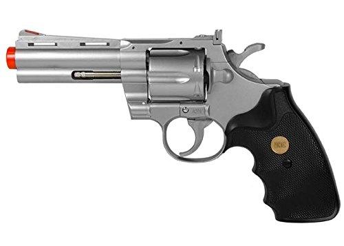 937 UHC 4 inch revolver, Silver airsoft gun (4