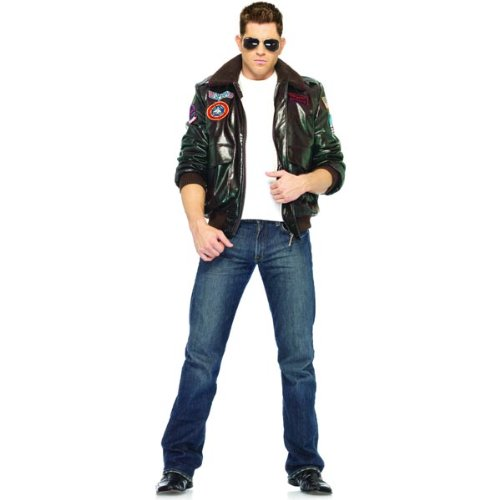 [Top Gun Men's Bomber Jacket Set Costume - Large - Chest Size 44] (Top Gun Womens Bomber Jacket Costume)