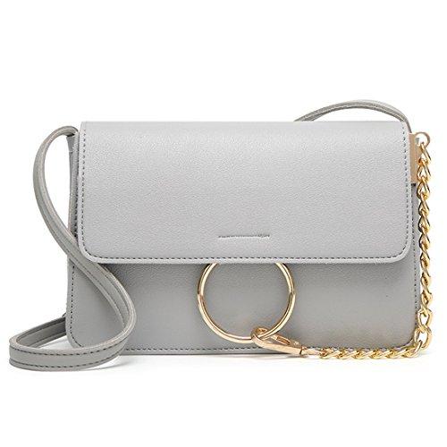 Luckywe Womens Crossbody Gray Handbag Leather Hobo Handbags Shoulder Clutch 77wqrTZx