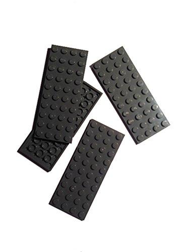 Lego 4x10 (Studs) Base Plates, Dark Bluish Grey, Set of (Dark Grey Base)