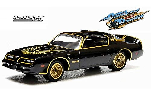 (Smokey and the Bandit 1977 Pontiac Trans Am, Black - Greenlight 44710A - 1/64 Scale Diecast Model Toy Car)
