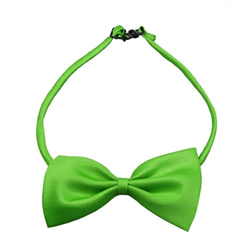 Green Stripe New Designer Necktie (Summa-ma Fashion Cute Dog Puppy Cat Kitten Pet Toy Kid Bow Tie Necktie (Green))