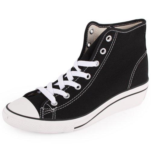 Converse - Zapatillas de lona para mujer Nero