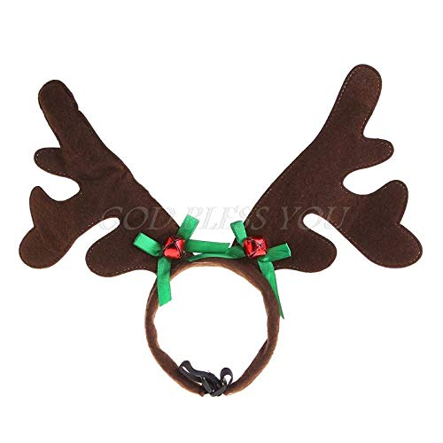 Dog Accessories - Christmas Pet Headband Deer Horn Hat Costume Dog Puppy Cat Cosplay Party Product - Small Collar Wear Game American Running Cardinals Hiking House Beach Toys Bulk Expensiv ()