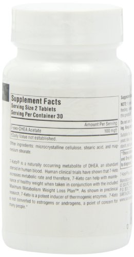Source Naturals 7-Keto DHEA Metabolite 50mg, Effective Anti-Aging Compound, 60 Tablets