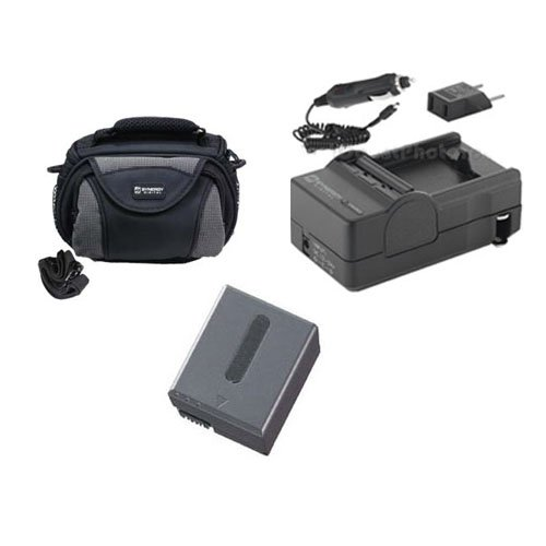 Sony DCR-IP1 Camcorder Accessory Kit includes: SDC-26 Case, SDM-102 Charger, SDNPFF70 Battery ()