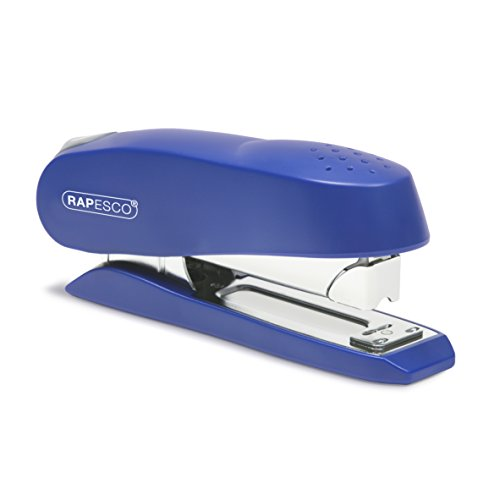 Rapesco 0237 Luna Half Strip Executive Heavy Duty Stapler - Blue, 50 Sheet...