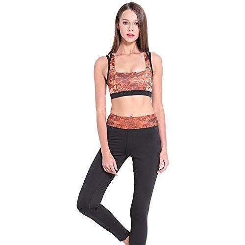 ハイランド馬鹿黒人XFentech ファッション セクシー レディーズ 女性 ヨガ ブラジャー フィットネス ジム アウトドアスポーツ 健康運動 ランニングシャツ レギンス