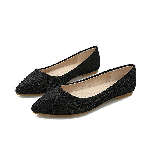 comfortable shoes pregnant flat work FLYRCX casual office shoes Pointed ladies shoes Black shoes fashion women vnPngE