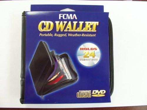 FCMA CD-DVD Portable Black Vinyl Wallet (24 Disc Capacity) Made by Case Logic for FCMA