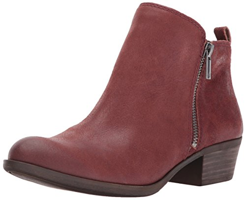 Lucky Brand Women's Basel Ankle Boot, Sable, 6 Medium US