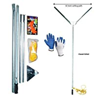 Crystal Blue Lake and Pond Weed Cutter - Includes Blade Sharpener and Safety Gloves...
